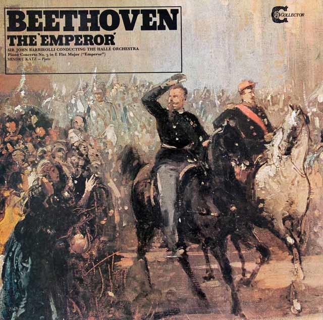 カッツ&バルビローリのベートーヴェン/ピアノ協奏曲第5番「皇帝」  英PYE 3032 LP レコード