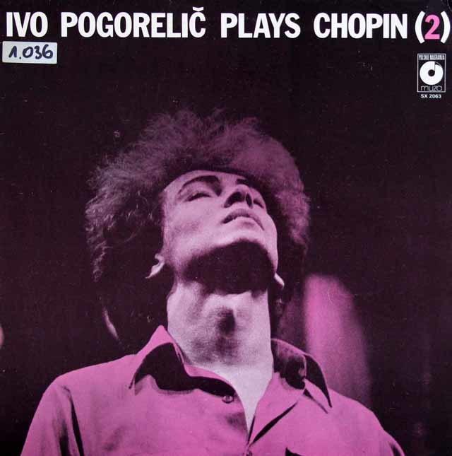 ポゴレリチのショパン vol.2  ポーランドmuza 3032 LP レコード