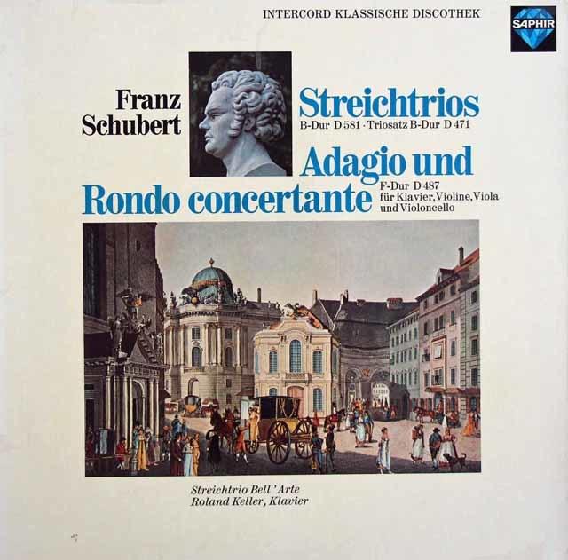 ラウテンバッハーらのシューベルト/弦楽三重奏曲第1&2番ほか  独SAPHIR 3032 LP レコード