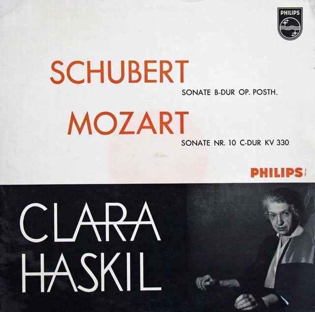 ハスキルのシューベルト&モーツァルト/ピアノソナタ集   蘭PHILIPS 3032 LP レコード