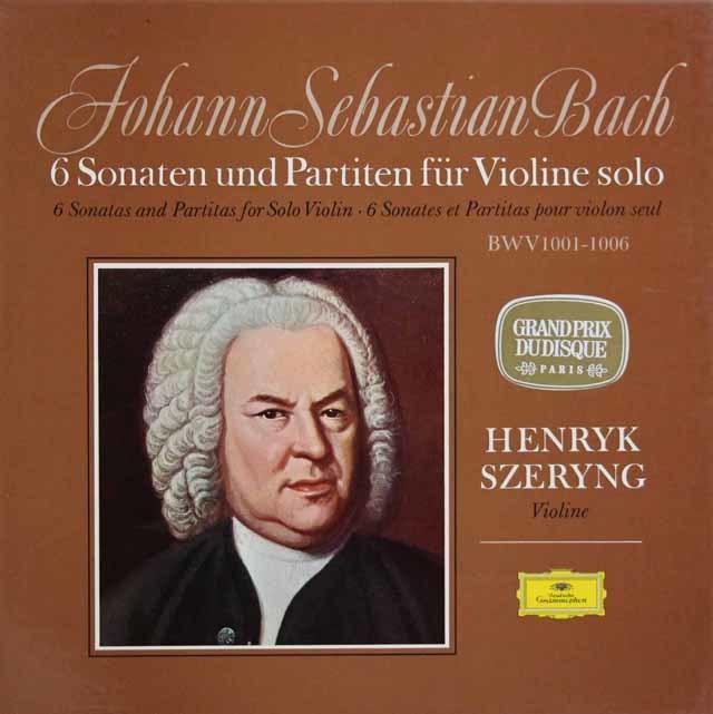 シェリングのバッハ/無伴奏ヴァイオリンソナタとパルティータ全曲   独DGG 3032 LP レコード