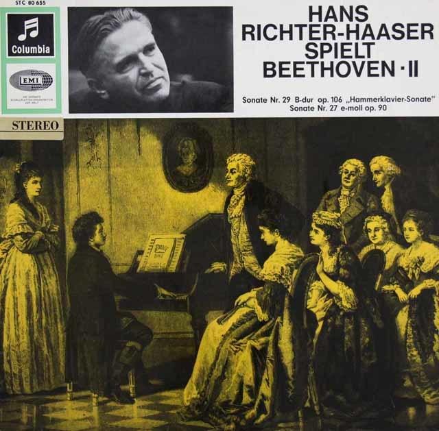 リヒター=ハーザーのベートーヴェン/ピアノソナタ第29番「ハンマークラヴィーア」&第27番  独Columbia 3032 LP レコード