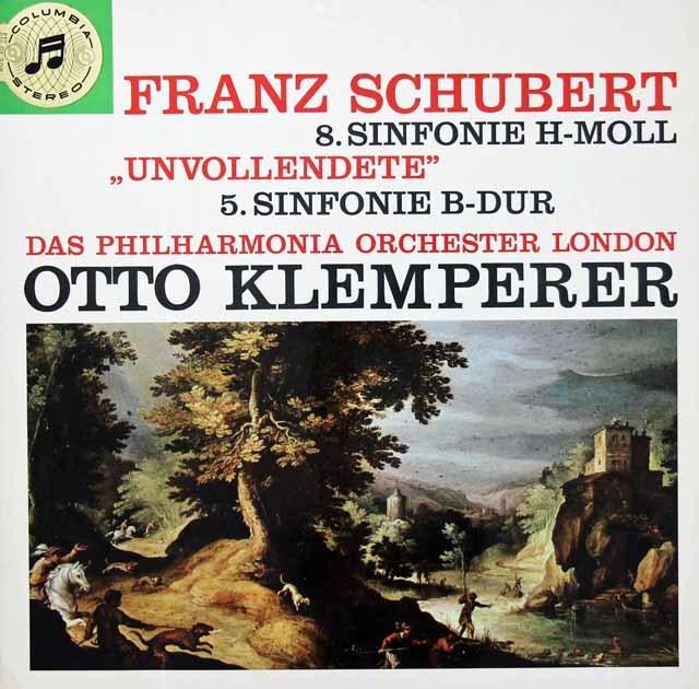 クレンペラーのシューベルト/交響曲第5&8番「未完成」  独Columbia 3038 LP レコード