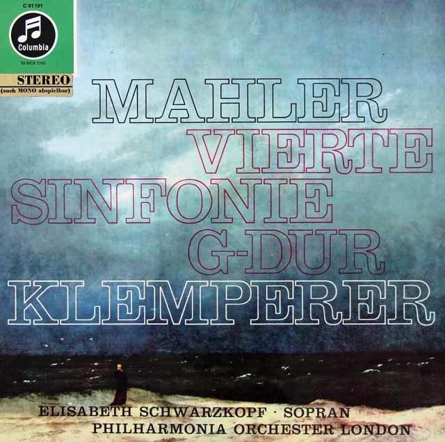 シュヴァルツコップ&クレンペラーのマーラー/交響曲第4番 独Columbia 3038 LP レコード