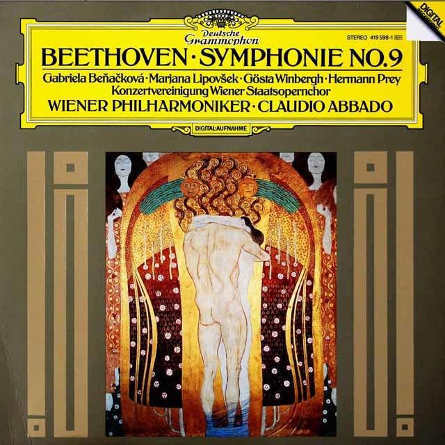 アバドのベートーヴェン/交響曲第9番「合唱付き」  独DGG 3038 LP レコード