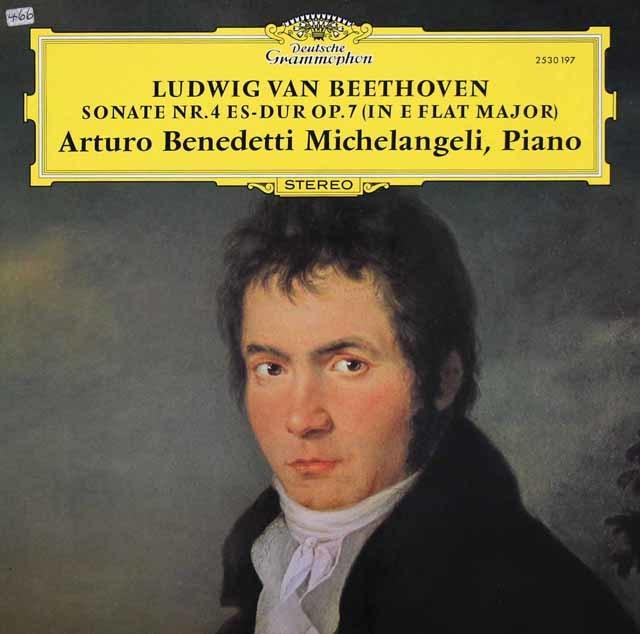 ミケランジェリのベートーヴェン/ピアノソナタ第4番  独DGG 3038 LP レコード