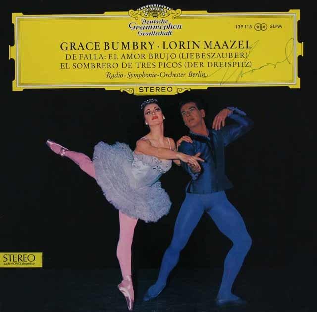【直筆サイン入り】マゼールのファリャ/バレエ音楽「三角帽子」ほか  独DGG 3038 LP レコード