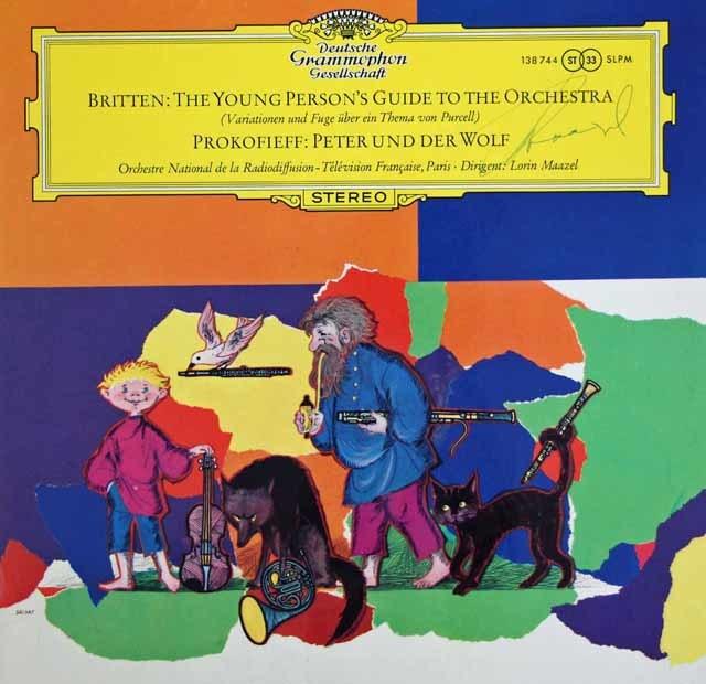 【直筆サイン入り】マゼールのブリテン/青少年のための管弦楽入門ほか  独DGG 3038 LP レコード