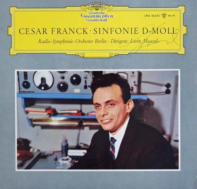 【直筆サイン入り】 マゼールのフランク/交響曲ニ短調 独DGG 3038 LP レコード