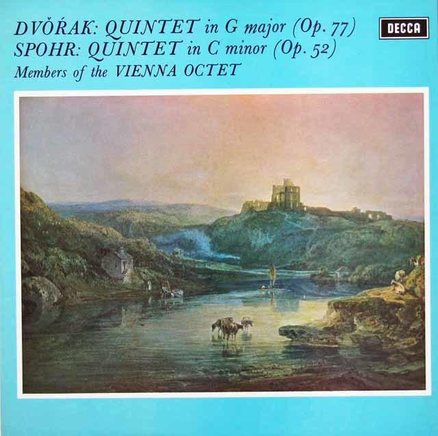 【オリジナル盤】ウィーン・オクテットのドヴォルザーク/五重奏曲   英DECCA 3038 LP レコード
