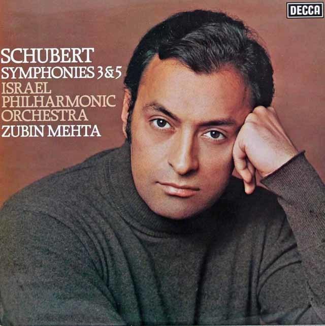 【オリジナル盤】メータのシューベルト/交響曲第3番&第5番 英DECCA 3038 LP レコード