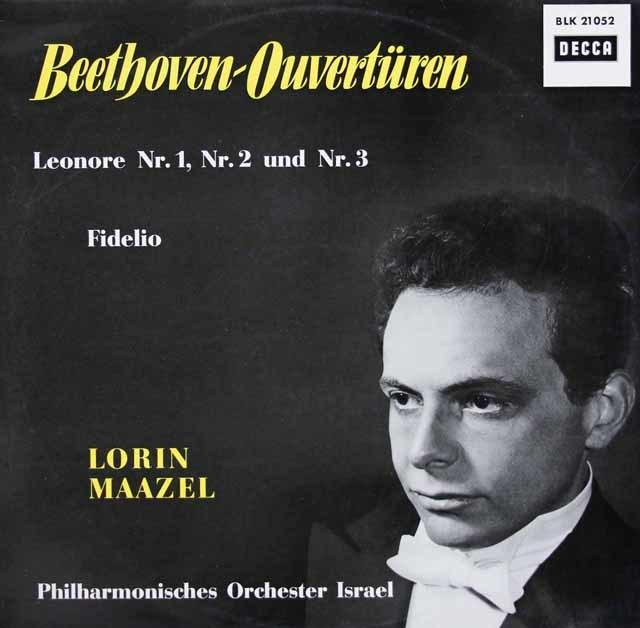 【直筆サイン入り】 マゼールのベートーヴェン/歌劇「フィデリオ」の序曲集 独DECCA 3038 LP レコード