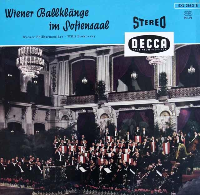 【最初期盤】ボスコフスキー、ゾフィエンザールのウィーン舞踏会   独DECCA 3038