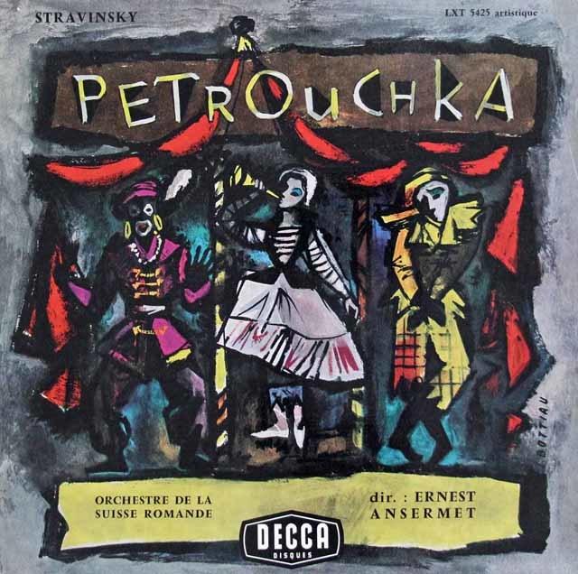 アンセルメのストラヴィンスキー/バレエ「ペトルーシュカ」 仏DECCA 3038 LP レコード