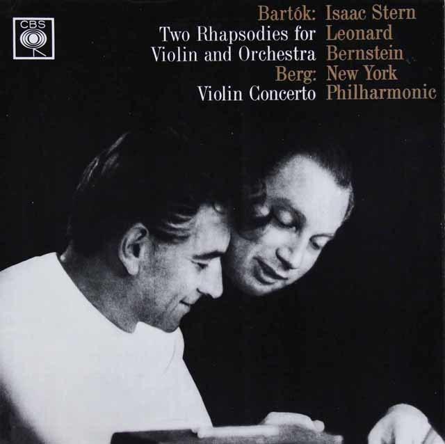 スターン&バーンスタインのベルク/ヴァイオリン協奏曲ほか 英CBS   3038 LP レコード