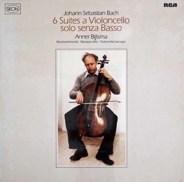 【追悼・未開封】 ビルスマのバッハ/無伴奏チェロ組曲 独RCA(SEON) 3038 LP レコード