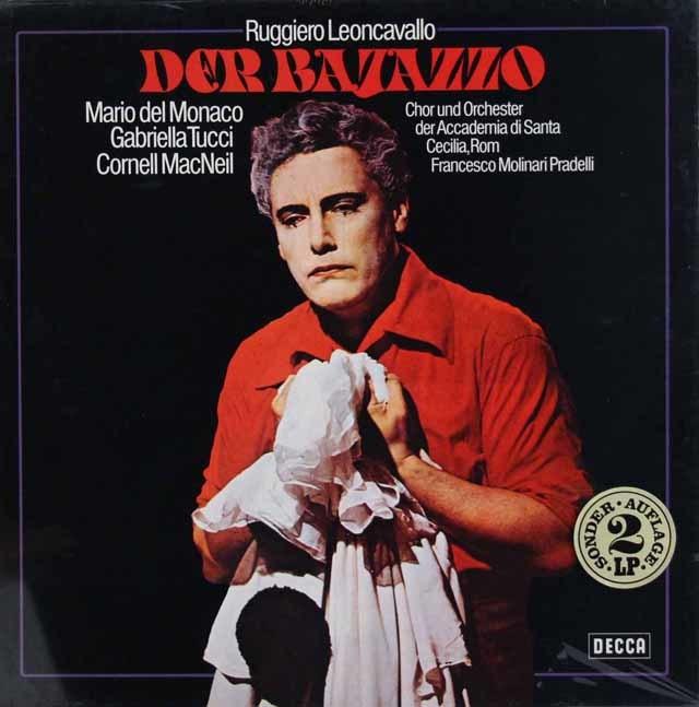 【未開封】 デル=モナコのレオンカヴァッロ/「道化師」 独DECCA 3038 LP レコード
