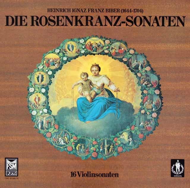ラウテンバッハーらのハインリヒ・ビーバー/「ロザリオのソナタ」全集   独FSM 3039 LP レコード