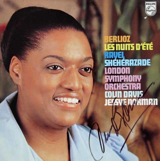 【直筆サイン入り】 ノーマン&デイヴィスのベルリオーズ/「夏の夜」ほか 蘭PHILIPS 3039 LP レコード