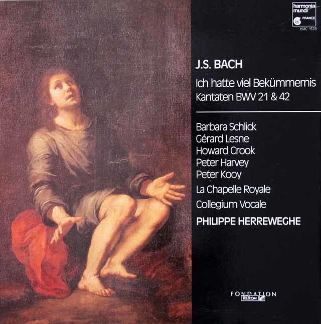 ヘレヴェッヘのバッハ/カンタータ BWV21 & BWV42 独HM 3039 LP レコード