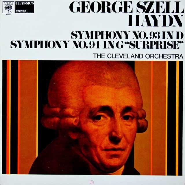 セルのハイドン/交響曲第93番 & 94番「驚愕」 英CBS 3039 LP レコード