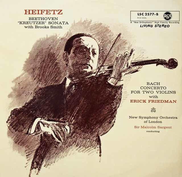 ハイフェッツのベートーヴェン/「クロイツェル・ソナタ」ほか   英RCA 3039 LP レコード