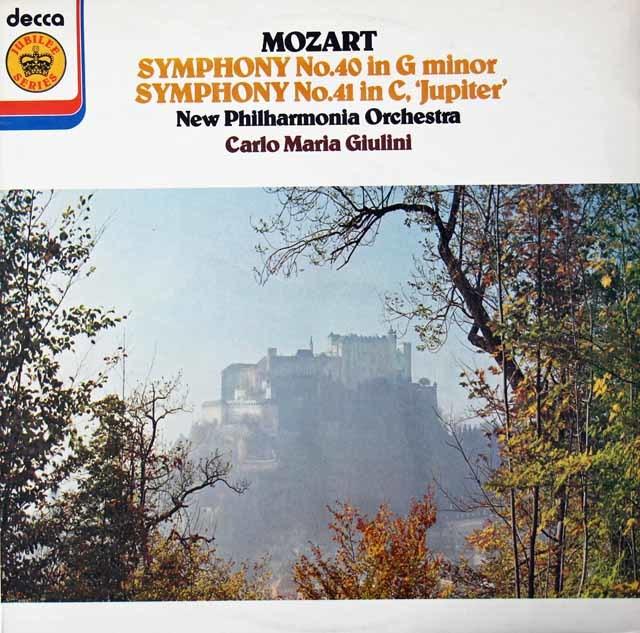 ジュリーニのモーツァルト/交響曲第40&41番「ジュピター」  英DECCA 3039 LP レコード