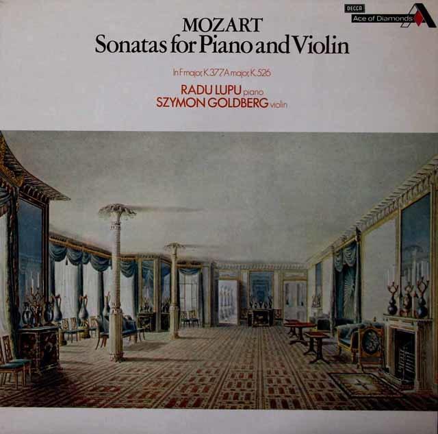 ゴールドベルク&ルプーのモーツァルト/ヴァイオリンソナタ第33番&第32番 英DECCA 3039 LP レコード