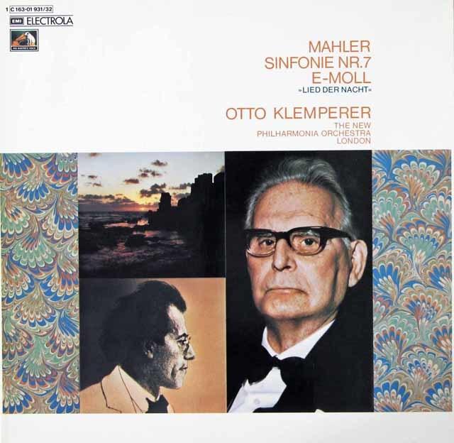 クレンペラーのマーラー/交響曲第7番「夜の歌」 独EMI 3039 LP レコード