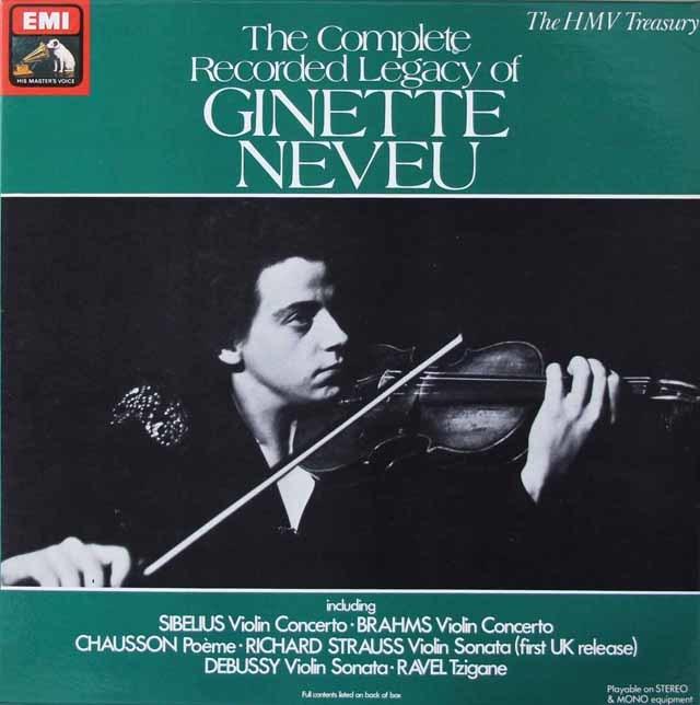「ジネット・ヌヴーの芸術」 英EMI 3039 LP レコード