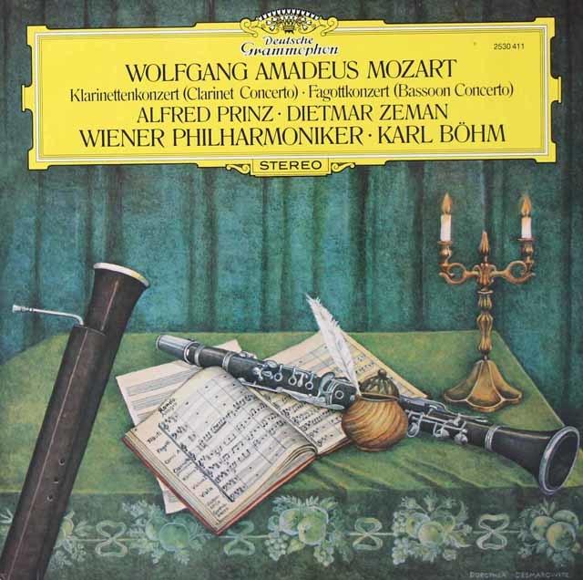 プリンツ&ベームのモーツァルト/クラリネット協奏曲ほか 独DGG 3039 LP レコード
