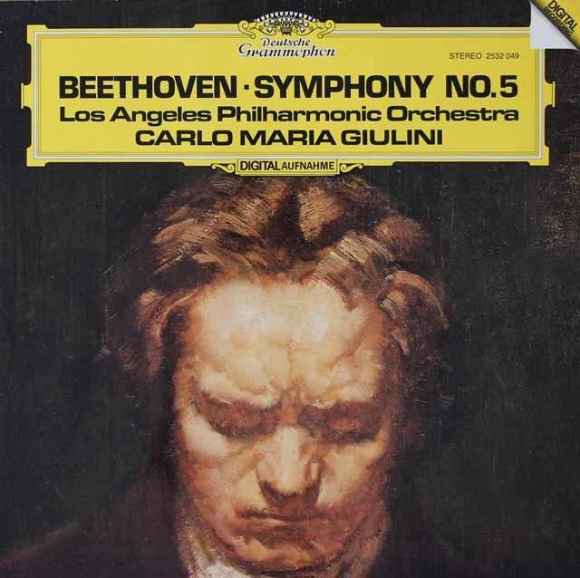 ジュリーニのベートーヴェン/交響曲第5番「運命」 独DGG 3039 LP レコード