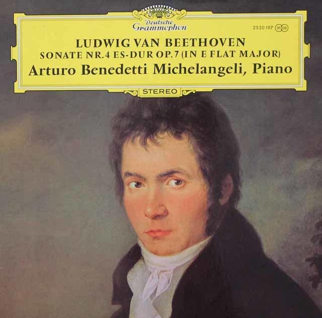 【ポスター付き】ミケランジェリのベートーヴェン/ピアノソナタ第4番 独DGG 3045 LP レコード