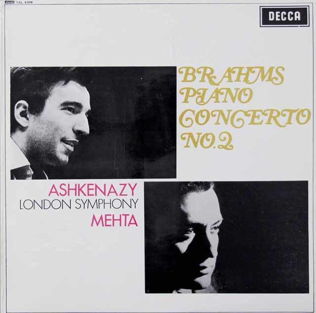 【オリジナル盤】アシュケナージ&メータのブラームス/ピアノ協奏曲第2番 英DECCA 3040 LP レコード