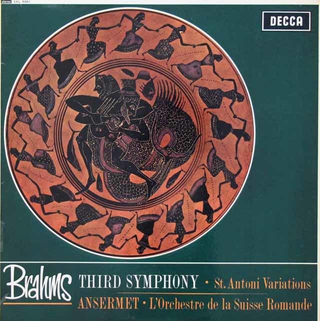【オリジナル盤】 アンセルメのブラームス/交響曲第3番ほか 英DECCA 3040 LP レコード