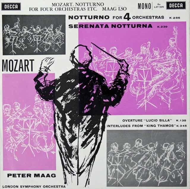 【モノラル】マークのモーツァルト/「セレナータ・ノットルナ」ほか 英DECCA 3040 LP レコード