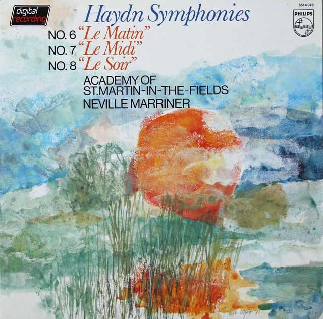 マリナーのハイドン/交響曲「朝」「昼」「夜」 蘭PHILIPS 3040 LP レコード