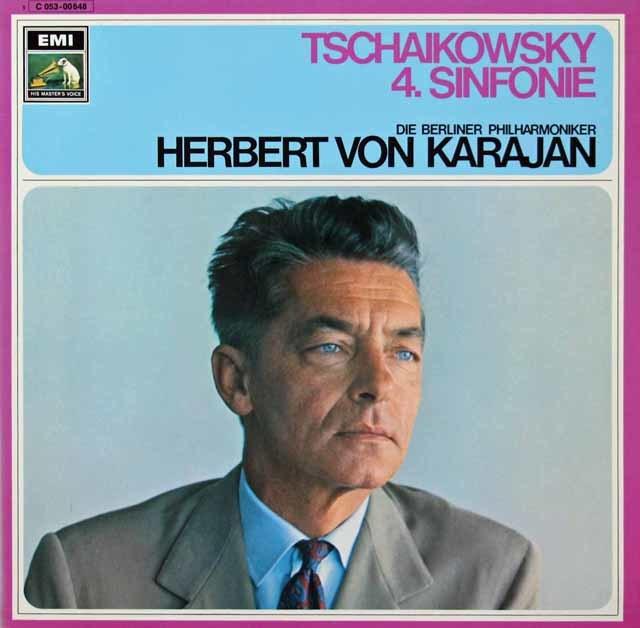 カラヤンのチャイコフスキー/交響曲第4番 独EMI 3040 LP レコード