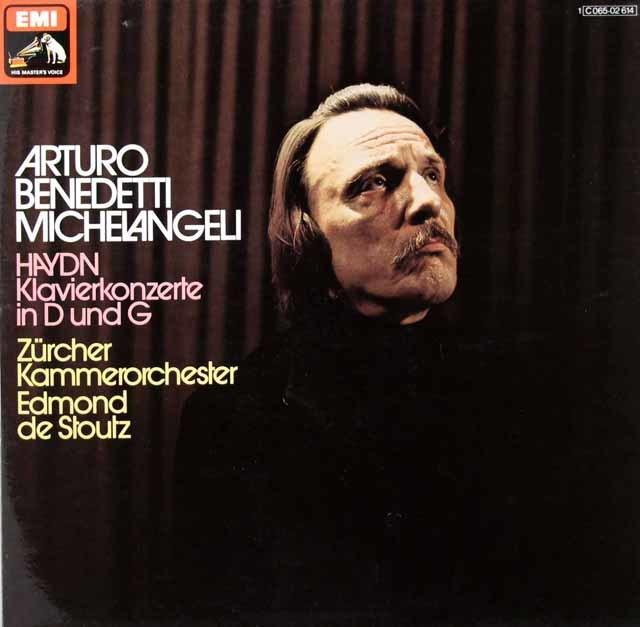 ミケランジェリのハイドン/ピアノ協奏曲集 独EMI 3040 LP レコード
