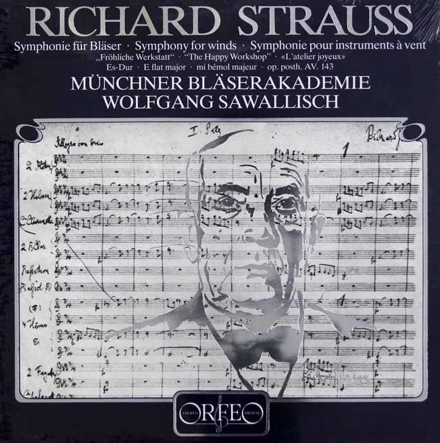 【未開封】 サヴァリッシュのR.シュトラウス/管楽器のためのソナチネ第2番「楽しい仕事場」 独ORFEO 3040 LP レコード