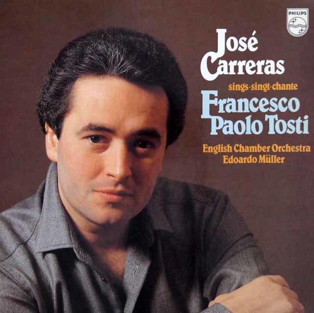 カレーラス、トスティを歌う 蘭PHILIPS 3041 LP レコード