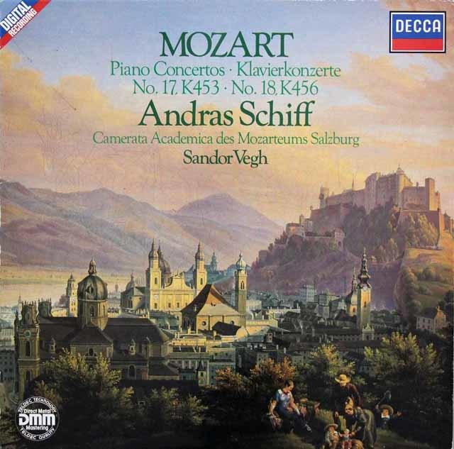 シフ&ヴェーグのモーツァルト/ピアノ協奏曲第17&18番 独DECCA 3041 LP レコード