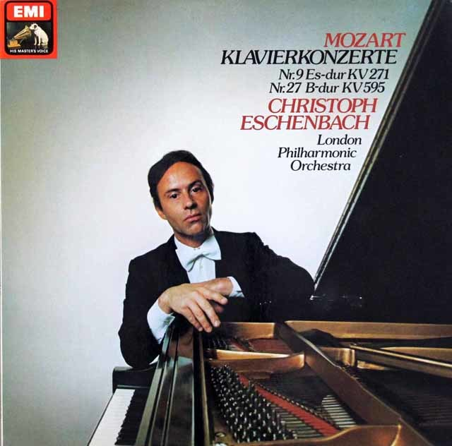 エッシェンバッハのモーツァルト/ピアノ協奏曲第9&27番 独EMI 3041 LP レコード