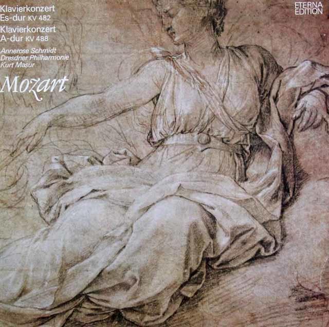 シュミット&マズアのモーツァルト/ピアノ協奏曲第22&23番 独ETERNA 3041 LP レコード