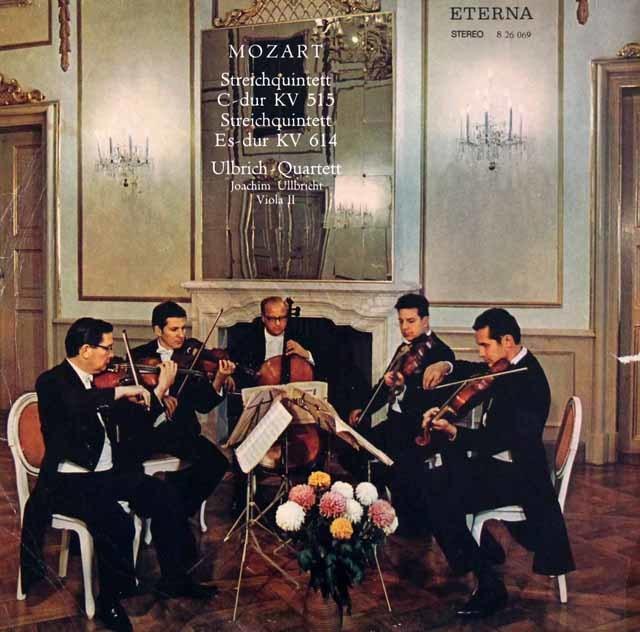 【テストプレス】 ウルブリヒ四重奏団らのモーツァルト/弦楽五重奏曲第3&6番 独ETERNA 3041 LP レコード