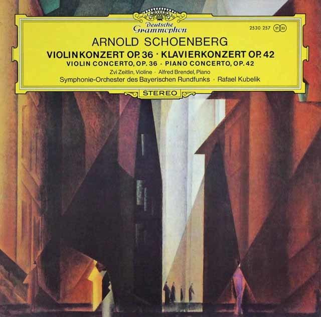 ブレンデル&クーベリックらのシェーンベルク/ピアノ協奏曲ほか 独DGG 3041 LP レコード