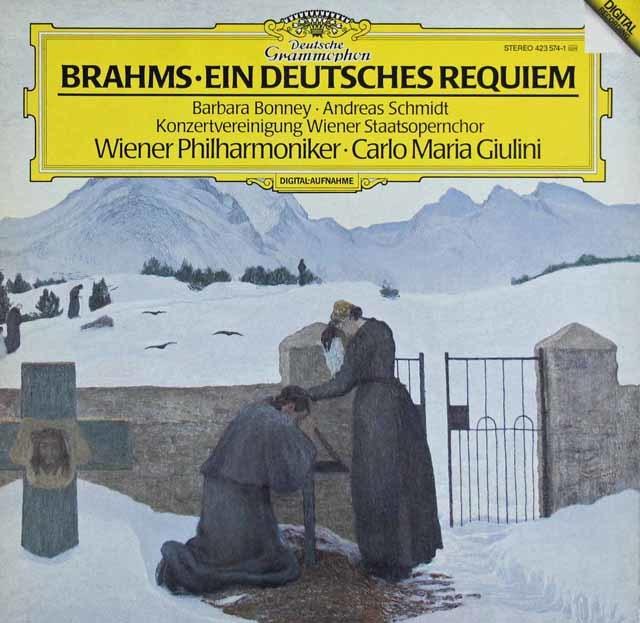 ジュリーニのブラームス/ドイツレクイエム 蘭DGG 3041 LP レコード