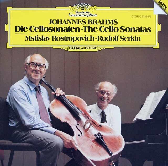 ロストロポーヴィチ&ゼルキンのブラームス/チェロソナタ第1&2番 独DGG 3041 LP レコード