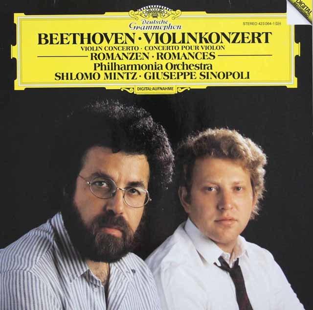 ミンツ&シノーポリのベートーヴェン/ヴァイオリン協奏曲ほか 独DGG 3041 LP レコード