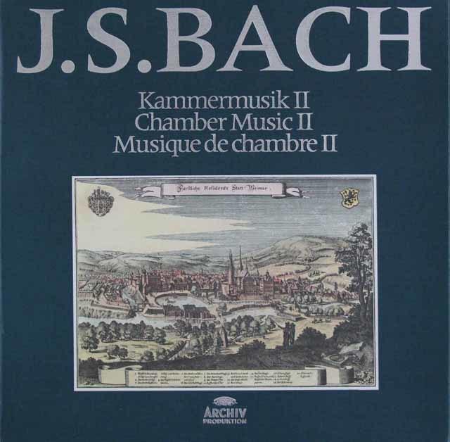 ニコレ&フルニエ、リヒターらのバッハ/室内楽曲集2 独ARCHIV 3041 LP レコード